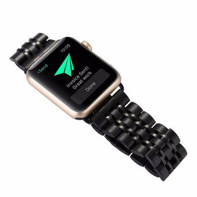 Stainless Steel 42mm Seven Wheel for iWatch Series 3 / 2 / 1