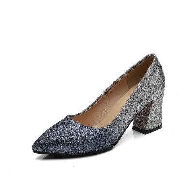 Coloured High Heel Pointed Leisure Women Shoes