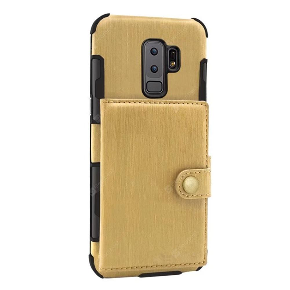 Cover Case for Samsung Galaxy S9 Retro PU Card Holders Phone Shells