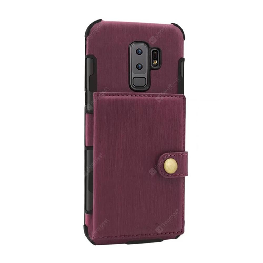 Cover Case for Samsung Galaxy S9 Plus Retro PU Card Holders Phone Shells