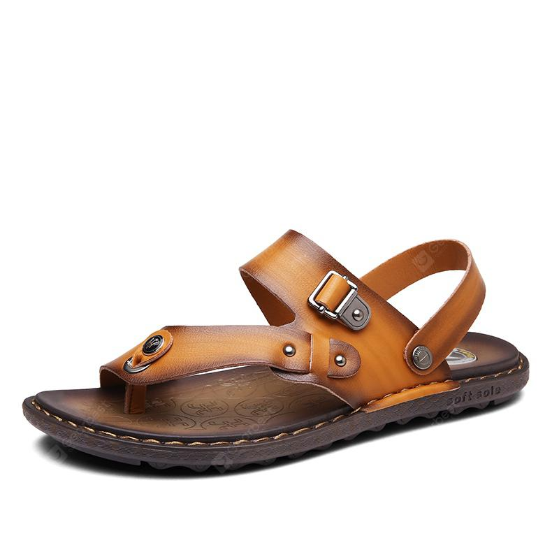 Men Microfiber Leather Large Size Clip Toe Wear-resistant Casual Sandals cheap real finishline cheap sale wholesale price great deals sale online s4o1j