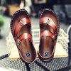 Men Microfiber Leather Large Size Clip Toe Wear-resistant Casual Sandals - LIGHT BROWN