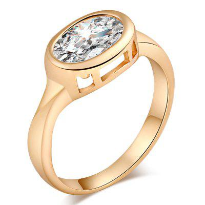 Mode Individualité Exquis Zircon Ring J1389