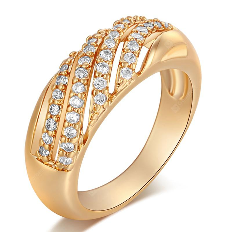 Bague en Zircon Creuse Zircon Fashion Micro-tranchant J1749
