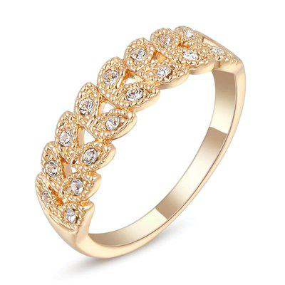 Fashion Micro-inlaid and Simple Zircon Ring J2013