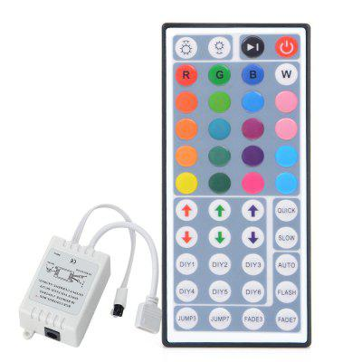 HML IR Remote Controller 44 Keys for RGB LED Light Strip  -  WHITE