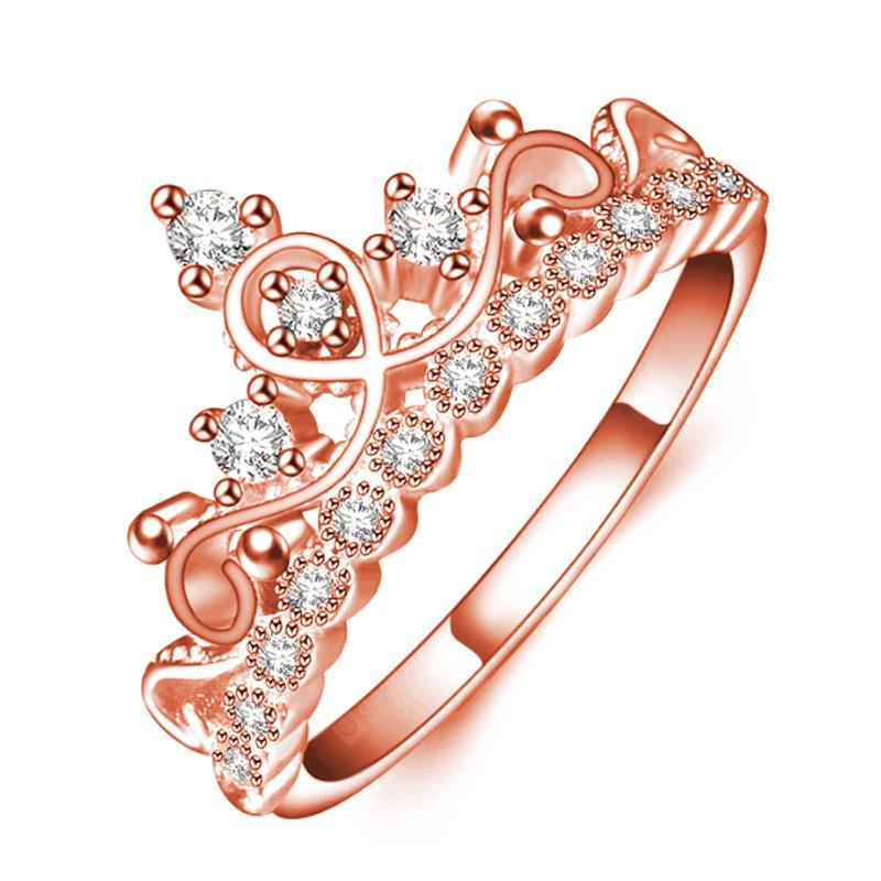 Korean Style of Rose Gold Zircon Jewelry Lady Ring