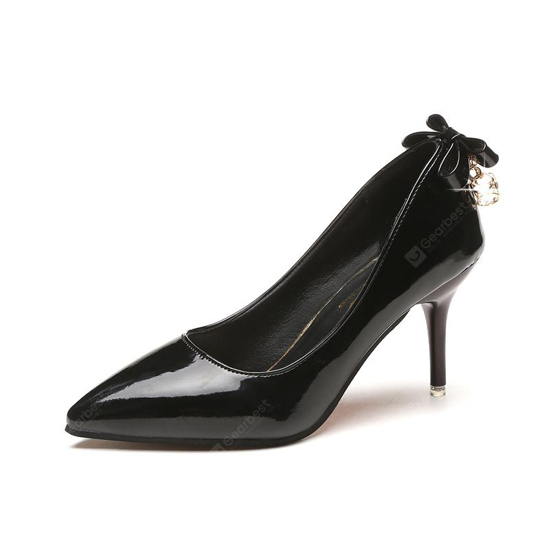 High Heeledpointed Water Drill Single Shoe