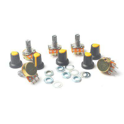 5 Piece B10K Ohm 3 Terminals Linear Taper Rotary Audio B Type Potentiometer