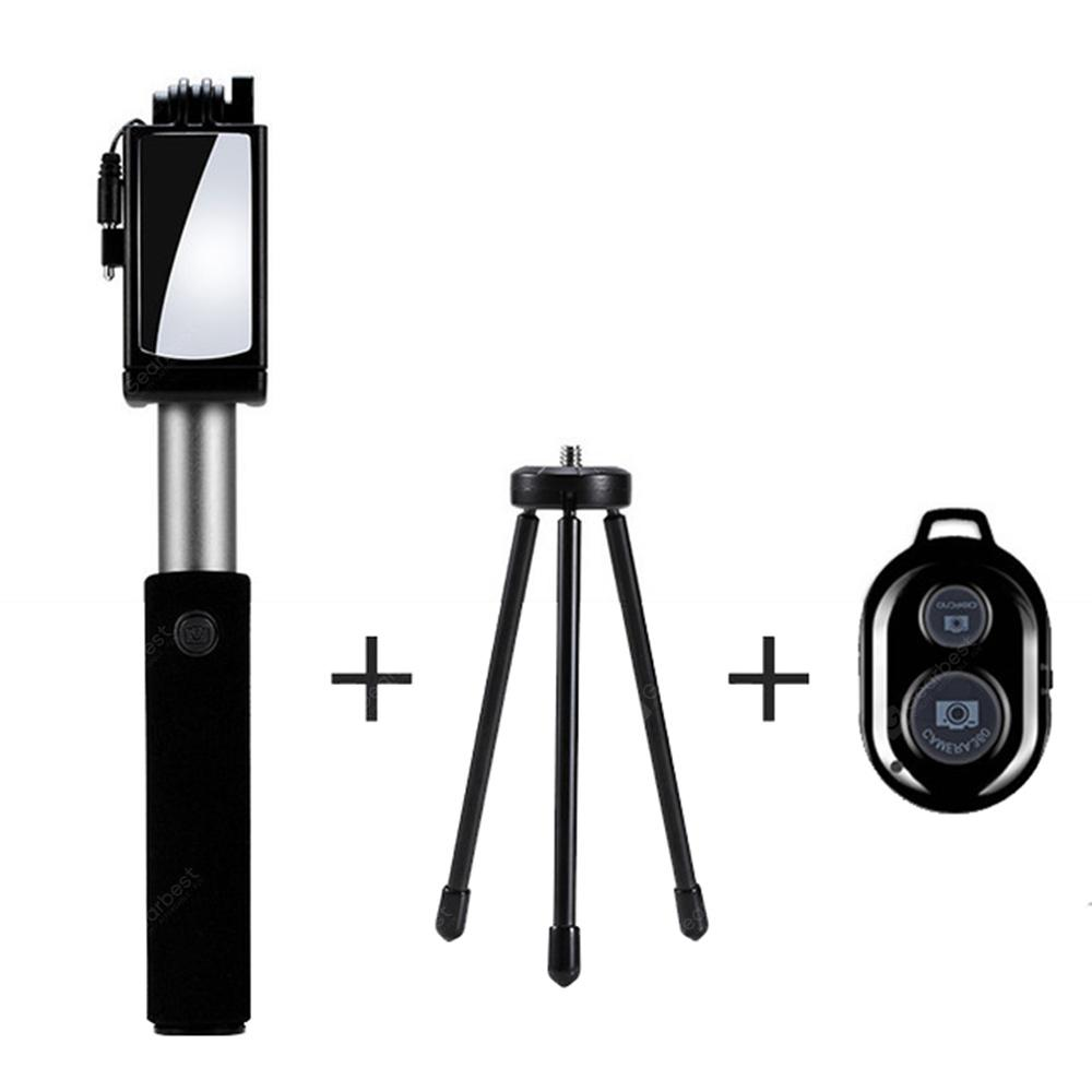 universal spiegel wired erweiterbar selfie stick bluetooth. Black Bedroom Furniture Sets. Home Design Ideas