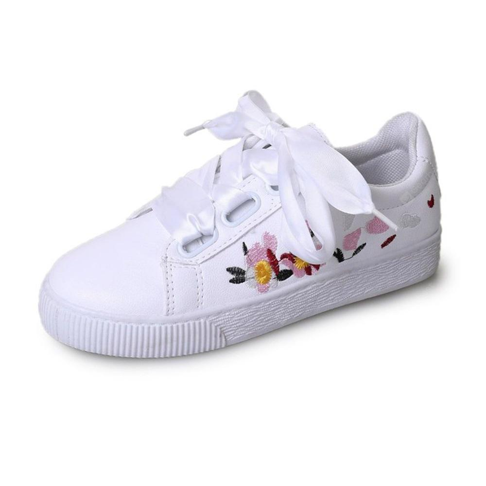 Silk Ribbon Embroidered Casual Shoes