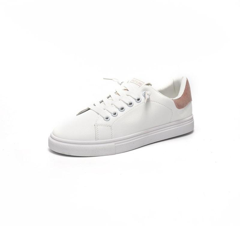 Tie Colored Flat Bottomed Casual Shoes