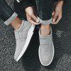 Men's Canvas Casual Shoes Sneakers - GRAY GOOSE