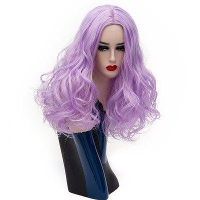 Long Curly Wavy Bob Wig for Women Purple Cosplay Party Heat Resistant 22inch