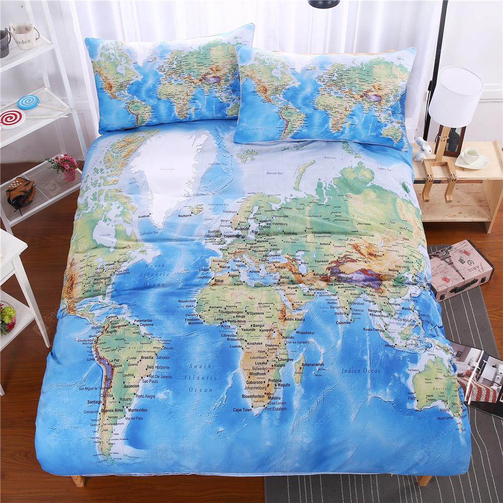 World map bedding duvet cover set digital print 3pcs 4837 free world map bedding duvet cover set digital print 3pcs gumiabroncs Choice Image