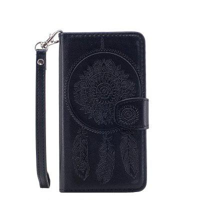 3D Embossed Wind Bell PU Leather Flip Folio Cover for Samsung Galaxy S5