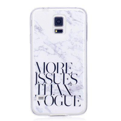 Characters Fashion Marble Soft TPU Phone Case for Samsung Galaxy S5 Mini