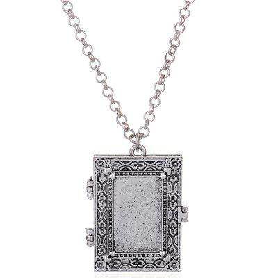 Exaggerated Gothic Photo Frame Box Alloy Pendant Necklace