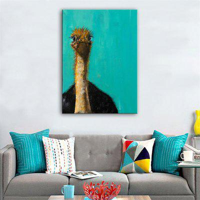 Special Design Frameless Paintings Ostrich Print