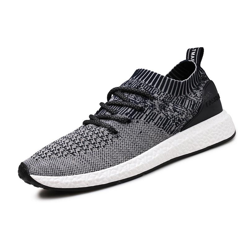 ZEACAVA Hommes Explosions Summer Flying Woven Tide Chaussures