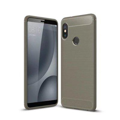 Para Xiaomi Red Note 5 Pro Acabamento Escovado Soft Phone Case