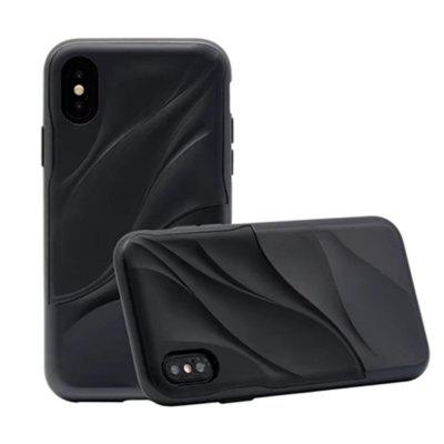 Cover Case for iPhone X Wave Dual Layer Heavy Duty PC TPU Resistent