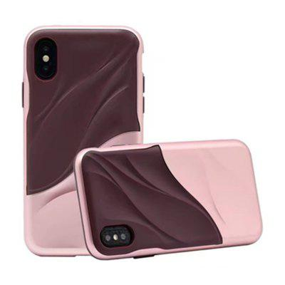 Funda protectora para iPhone X Wave de doble capa para PC resistente a TPU