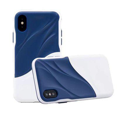 Custodia per iPhone X Wave Dual Layer PC resistente resistente TPU