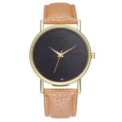 ZhouLianFa T60 Fashion Black Bottom Pattern Litchi reloj de cuarzo de grano