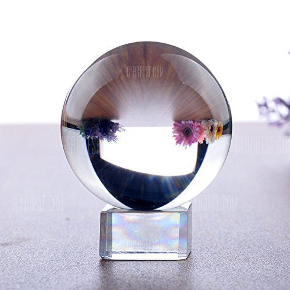 K9 Clear Crystal Ball Globe Suit with Stand for Photography Decoration Art Decor