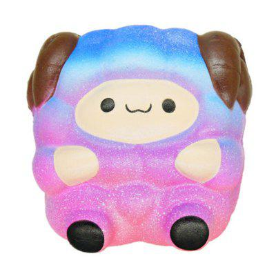 Jumbo Squishy Cute Sheep Galaxy Rainbow Alpaca Slow Rising Scented Toy Gift