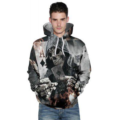 Winter Fashion New Black Peach A3D Printing Men's Hoodie