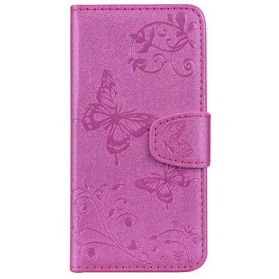 Cover Case for iPhone 8/7 Plus Mirror Shell Butterfly and Flower Pattern purple flower butterfly varnish relief pu phone case for iphone 8 7