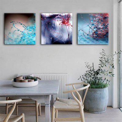 Special Design Frameless Paintings Hand Catenary Print 3PCS