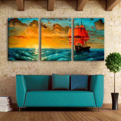 Special Design Frameless Paintings long voyage Print 3PCS