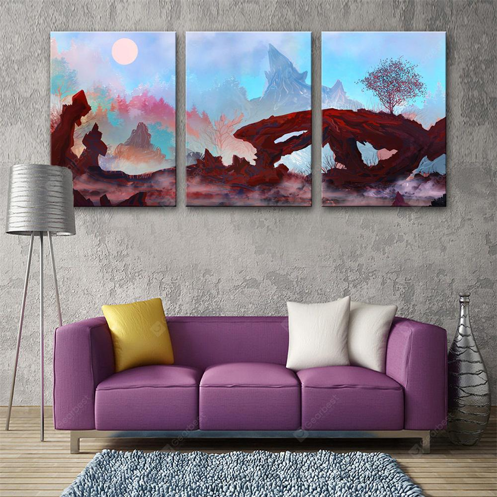 Special Design Frameless Paintings Night View Print 3PCS