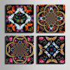 Special Design Frameless Paintings Insects and Flowers Print 4PCS - MULTI