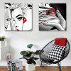 Special Design Frameless Paintings Lip Print 2PCS - GRAY GOOSE