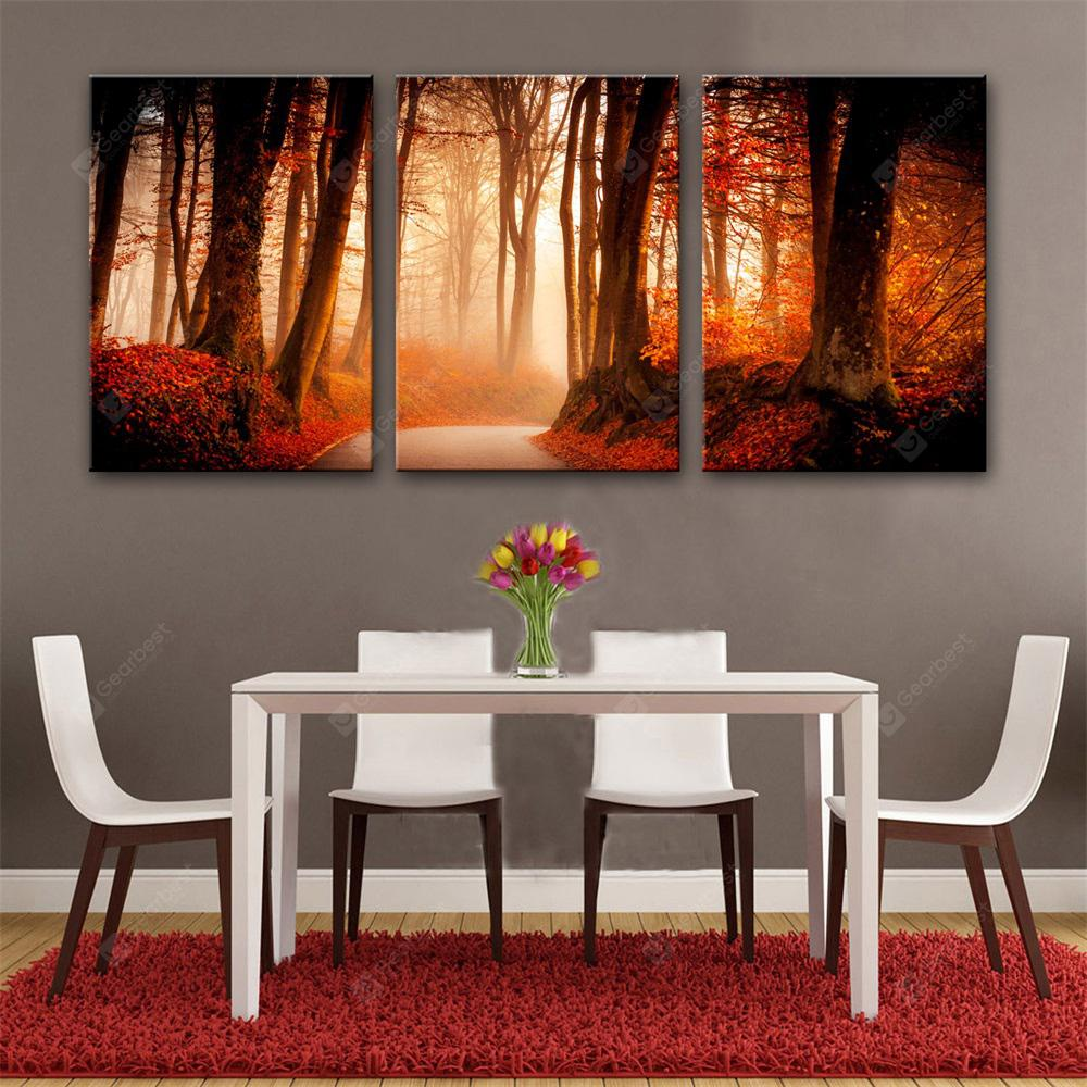 Special Design Frameless Paintings Jungle Path Print 3PCS