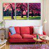 Special Design Frameless Paintings Meadow Mangrove Print 3PCS - WATERMELON PINK