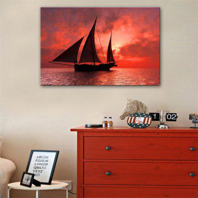 Special Design Frameless Paintings  Sailboat Print