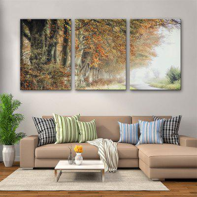 Special Design Frameless Paintings Early Autumn Print 3PCS