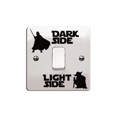 Dark Side Light Switch Sticker Cartoon Vinyl Wall Decals Home Decor diy custom car cartoon stickers hatsune miku vinyl sticker printing carving protection film car funny graffiti sticker decals