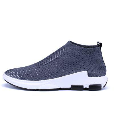 ZEACAVA Men Flyknit Mesh Fabric Breathable Sock Trainers Sport Casual Sneakers