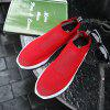 ZEACAVA Men Flyknit Mesh Fabric Breathable Sock Trainers Sport Casual Sneakers - RED