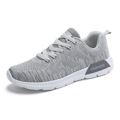 ZEACAVA Men Mesh Fabric Breathable Trainers Sport Casual Sneakers