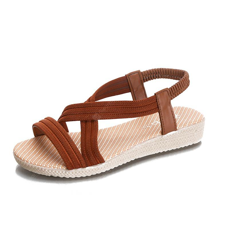 free shipping get to buy Flat-Bottomed Fishbill Sandals Pure-colored Elastic Roman Sandals free shipping 2015 outlet online outlet huge surprise 2014 unisex sale online 1dVtQPww