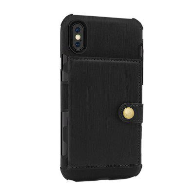 Cover Case for iPhone X Retro PU Card Holders...