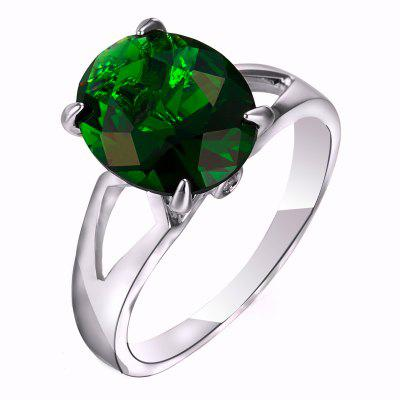 Fashion Micro-set Elliptic Large Zircon Ring J1806