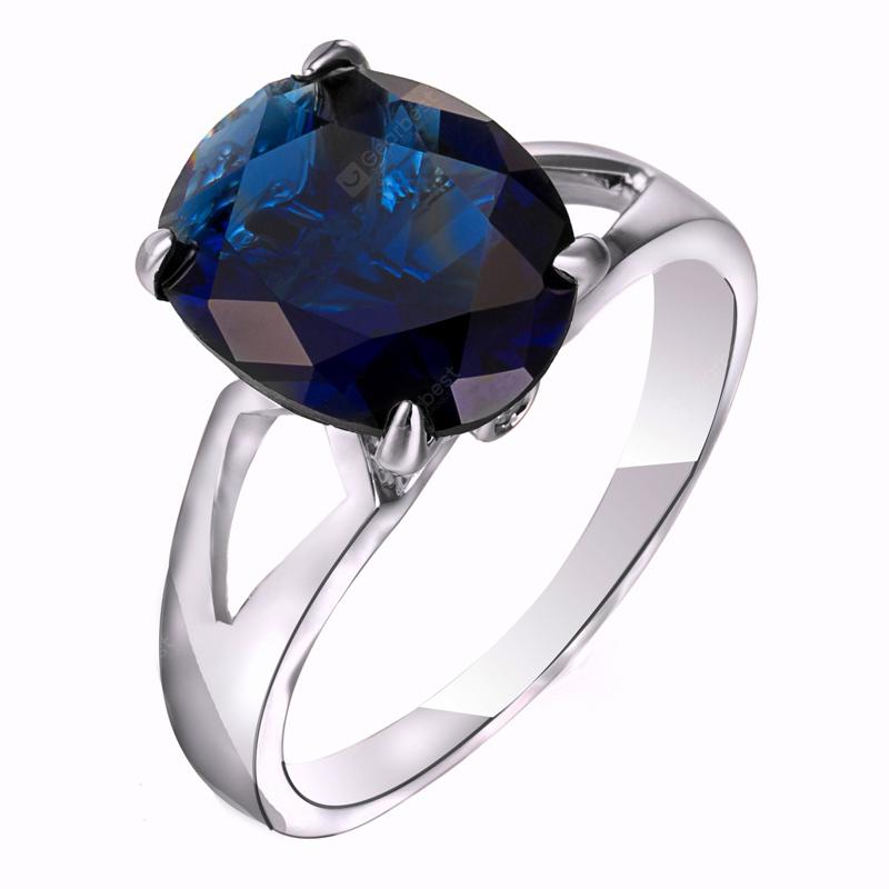 Mode Micro-ensemble Elliptique Large Zircon Ring J1806
